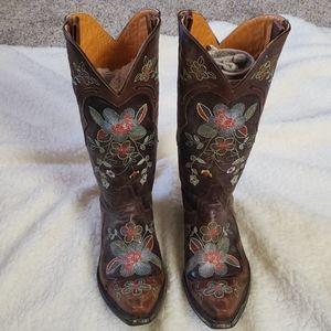 Old Gringo floral cowboy boots